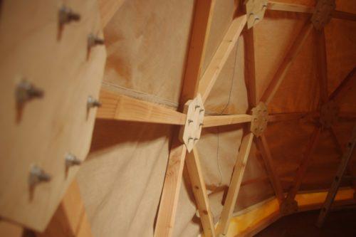 Dôme géodésique - toiles et bois